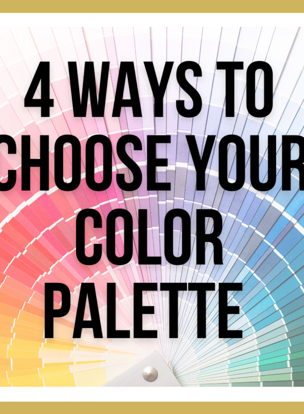 Top 4 Ways To Determine The Best Color Palette For Your Space